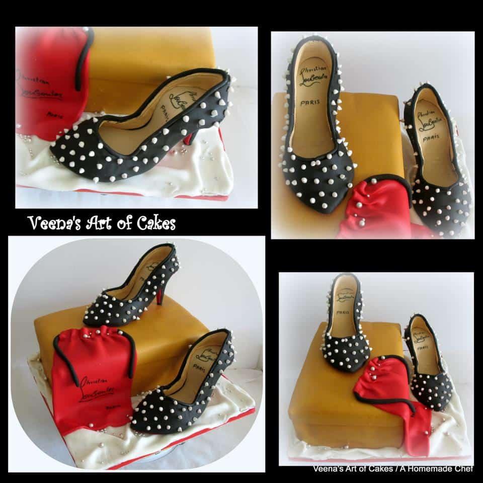 Gum Paste Shoe cake