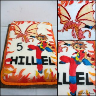 Hand Painted Bakugan Cake
