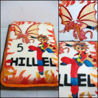 Hand Painted Bakugan Cake