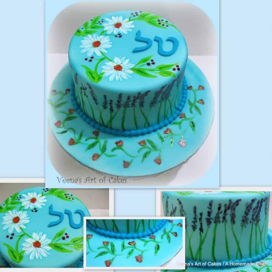 Handpainted Birthday cake