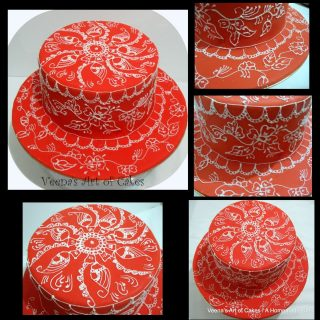 Orange Henna Inspired Cake