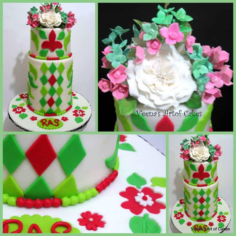 My Mosaic Inspired wedding Cake