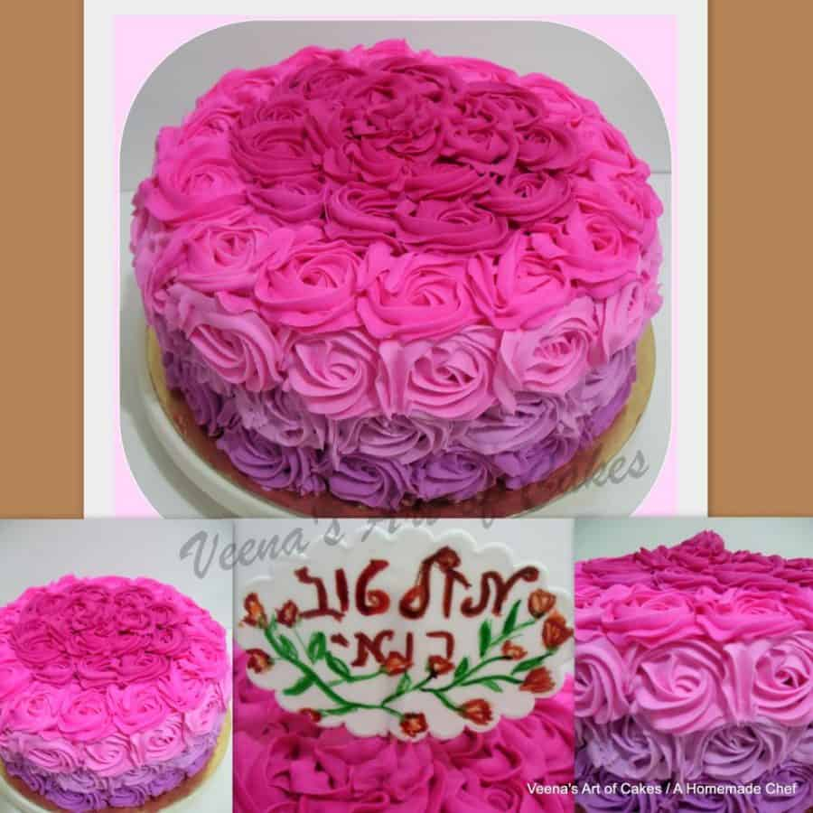 A Buttercream Rose Swirl Cake is a perfect gift for a lady no matter what age. In fact it's a great cake to have when celebrating with guest too! The cake is a light and fluffy rainbow cake as a base with delicious Italian Meringue Buttercream.
