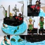 Gum Paste Peter-pan Tinkerbell and hook