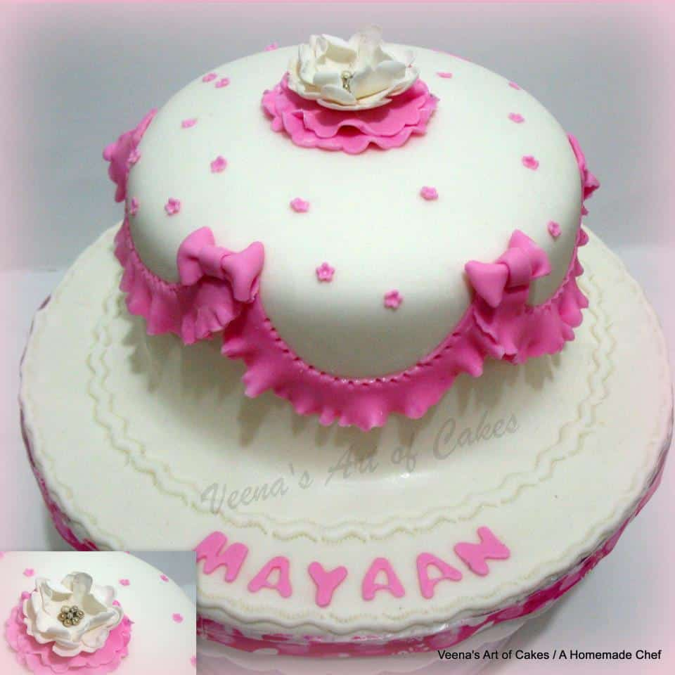 Frills and bows Baby cake