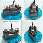 Navy Boat Cake