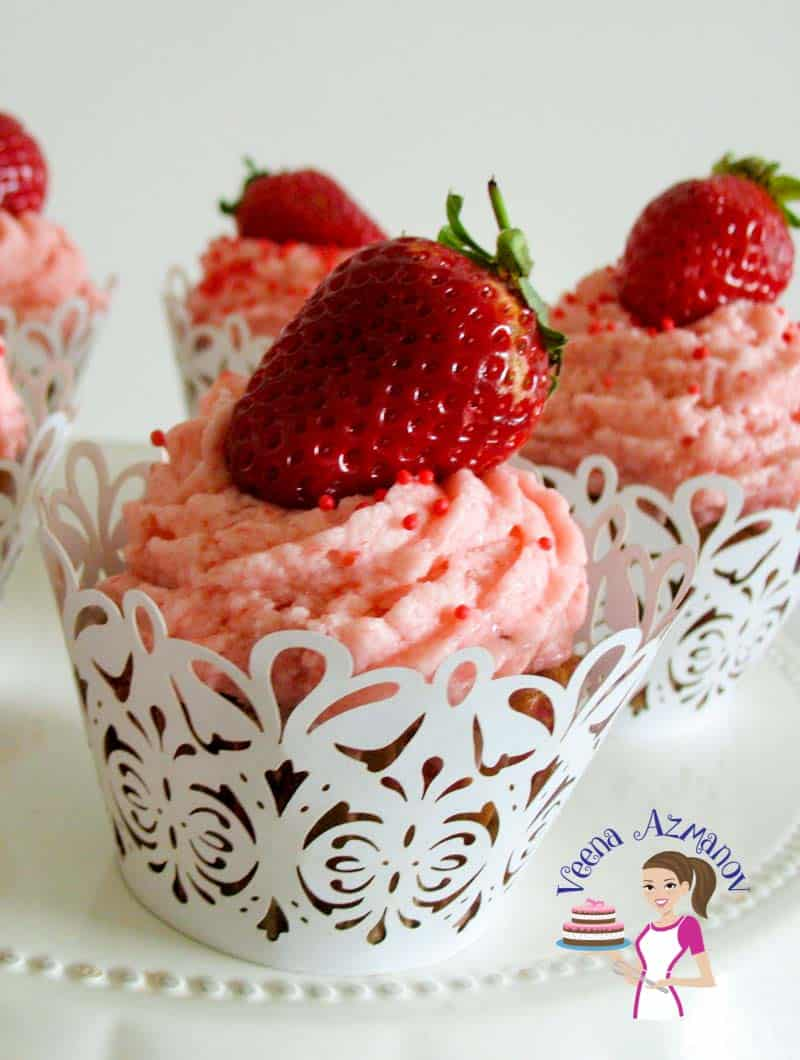Strawberry Cupcakes with Strawberry Jam – Baking from Scratch Series