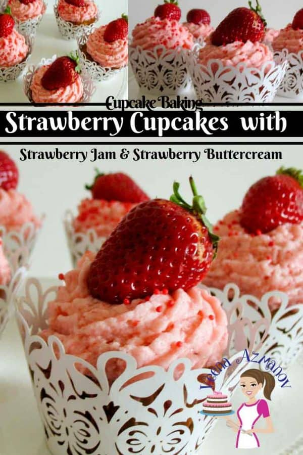 Make delicious strawberry cupcakes filled with strawberry jam and strawberry buttercream for that ultimate luxury