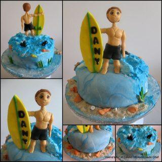 Surf Theme Cake