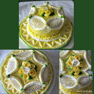 Victorian Style Royal Iced Cake