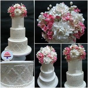 White Damask Wedding 2 300x300