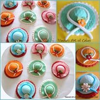 Girly Cupcake hat Toppers