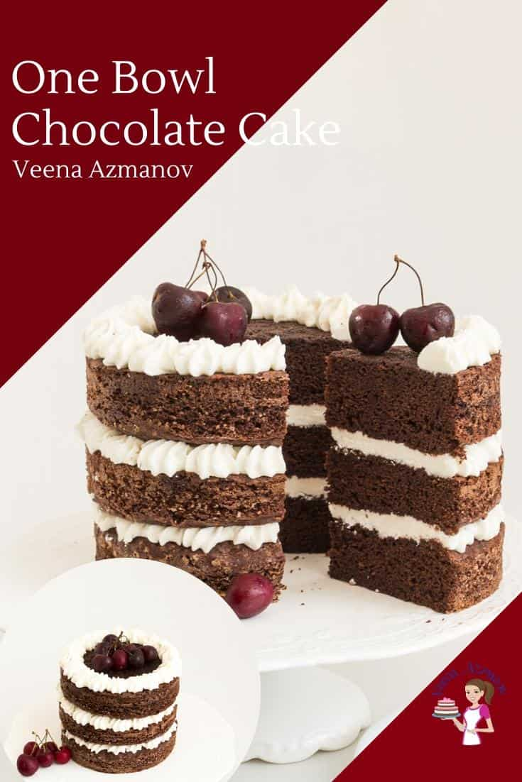 A chocolate layer cake.