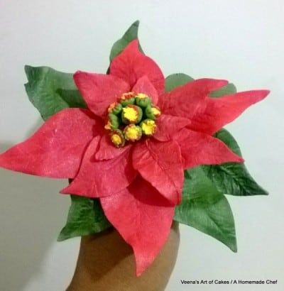 gum paset poinsettia with leaf cutters