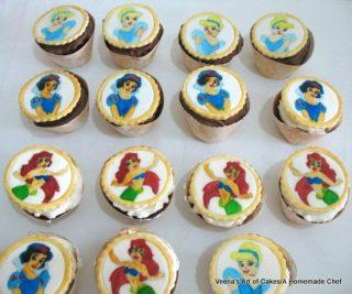 Hand Painted Princess Cupcakes