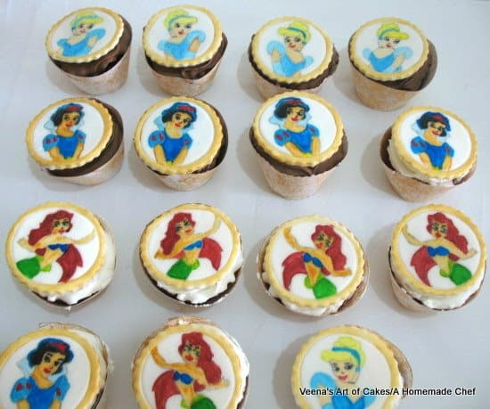 Hand Painted Princess Cupcakes