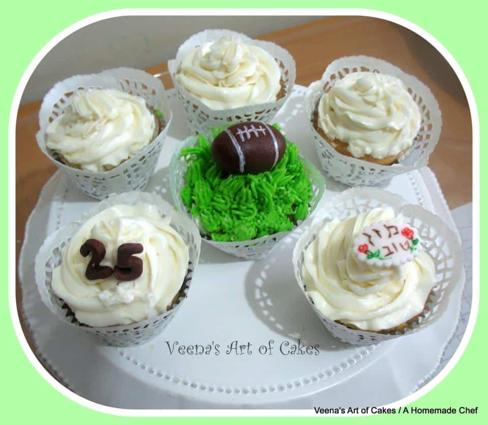 soccerball inspired cupcakes