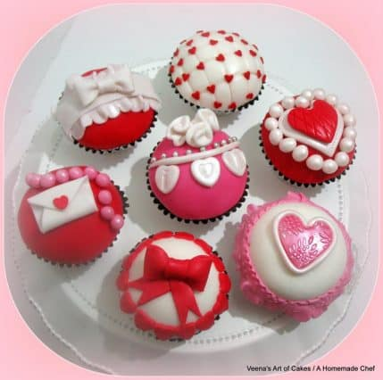 valentine heart inspired cupcakes