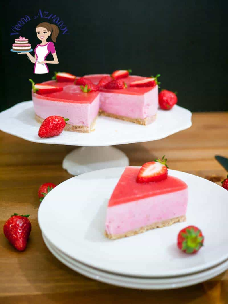 Strawberry Bavarian Cream Cake Is A Perfect Entertaining Dessert Very Impressive Luxurious Made With