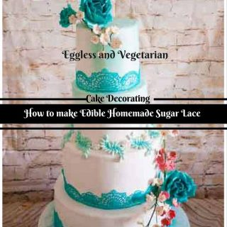 Edible lace has always been an intricate part of cake decorating but now has become a massive trend. Here's a simple homemade edible sugar lace recipe that can be applied to any cake from simple buttercream to naked ganache or a decorated fondant cake. Have fun and explore new possibilities with this new easy to use homemade lace recipe.