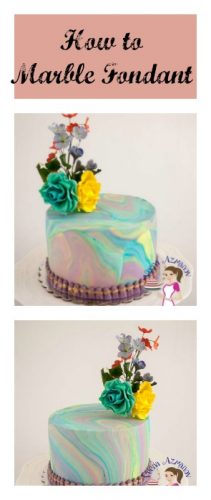 How to marble fondant 2