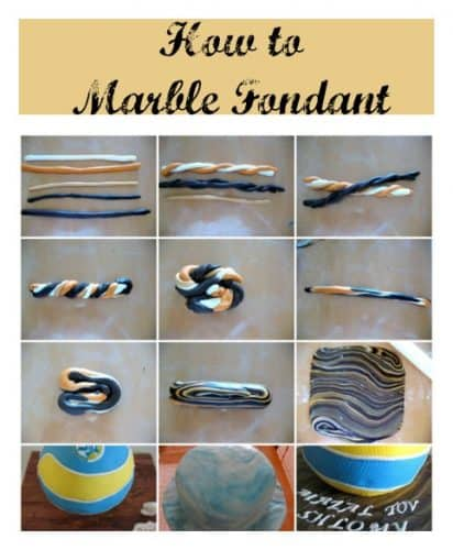 How to marble fondant 3