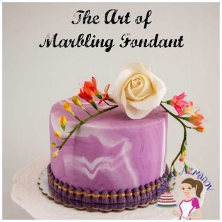 The art of Marbling Fondant – How to Marble Fondant