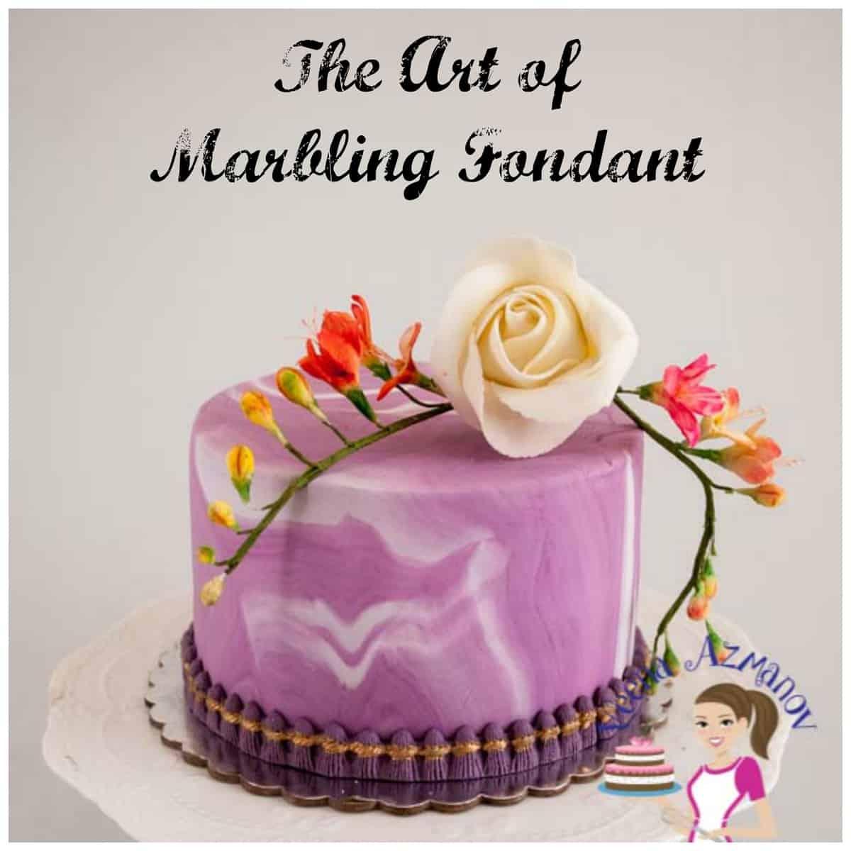 Veena Art Of Cake Fondant Recipe : The art of Marbling Fondant - How to Marble Fondant ...
