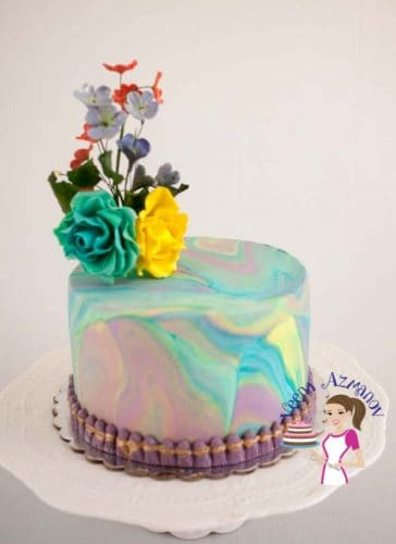 The Art Of Marbling Fondant How To Marble Fondant