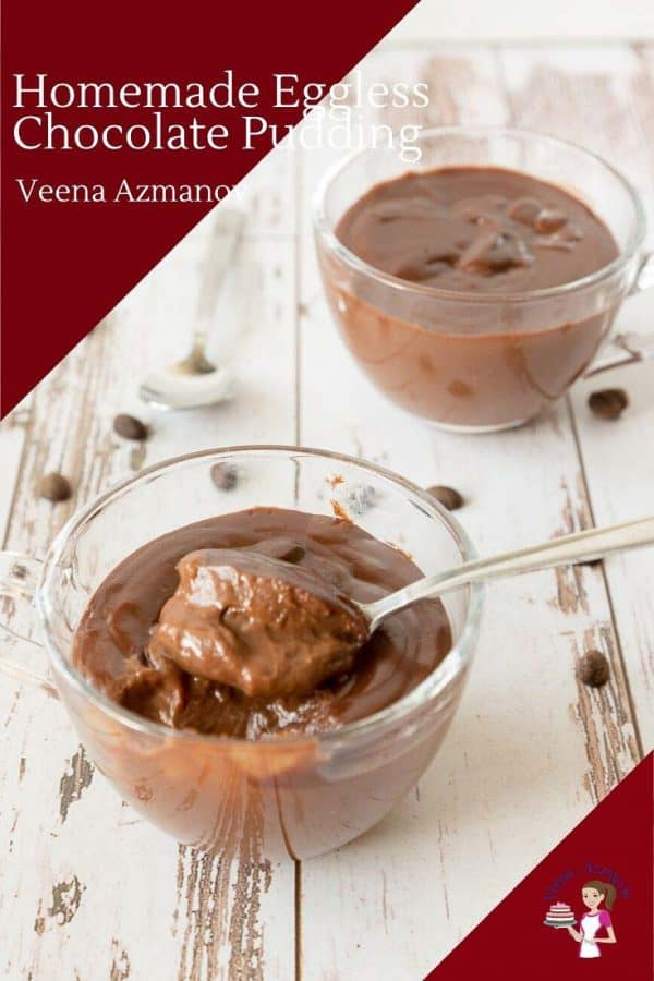 This is the best pudding recipe from scratch with 4 ingredients and just 5 minutes with real chocolate.