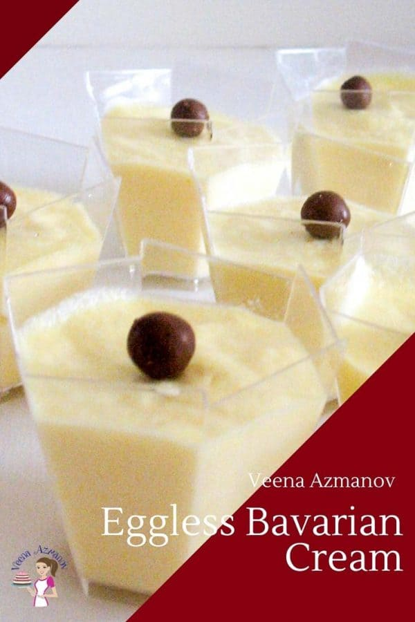 Learn to make a French Classic Bavarois with Vanilla. Both Classic and Eggless Bavarois Recipe