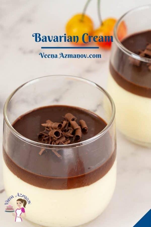 Pinterest image for Bavarian Cream.