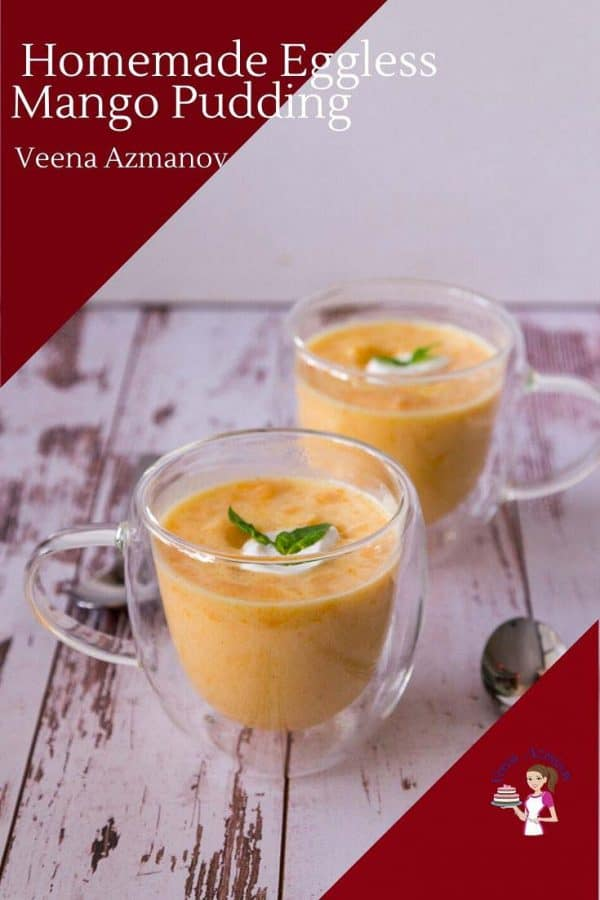 This is the best pudding recipe from scratch with 4 ingredients and just 5 minutes with mango puree