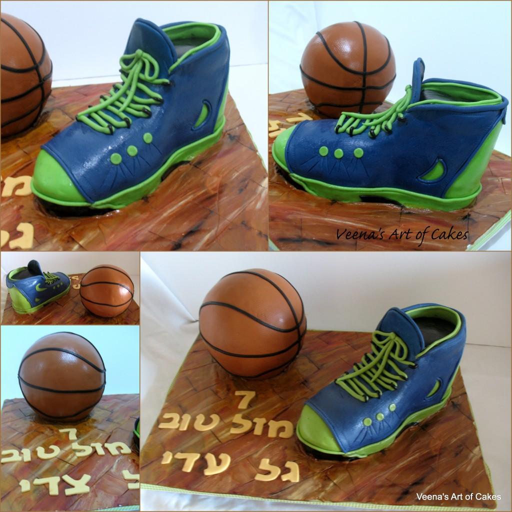 Basket Ball and Sports Shoe Cake