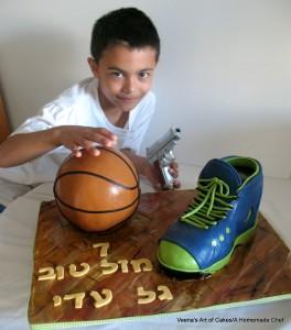 Sports shoe cake