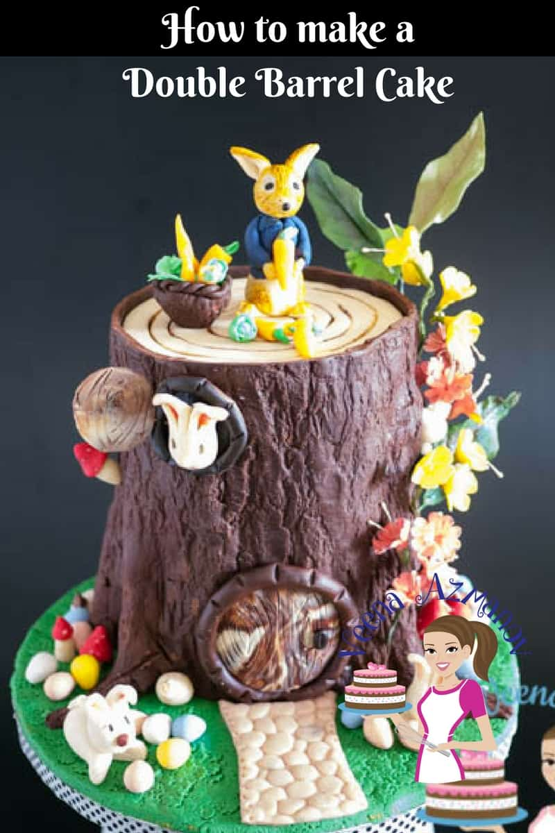 Double Barrel Cakes are become the new trend. They give you an opportunity to extend a design far and wide opening up a whole new world or possibilities. While they are not easy or difficult here are a few basics worth paying attention to .