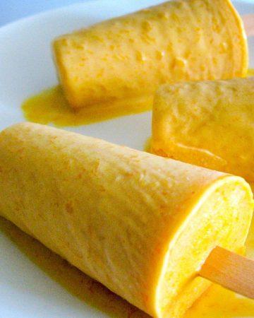Indian Mango ice cream called Kulfi