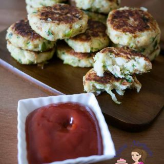 How to make veggie patties with leek and potato shallow fried