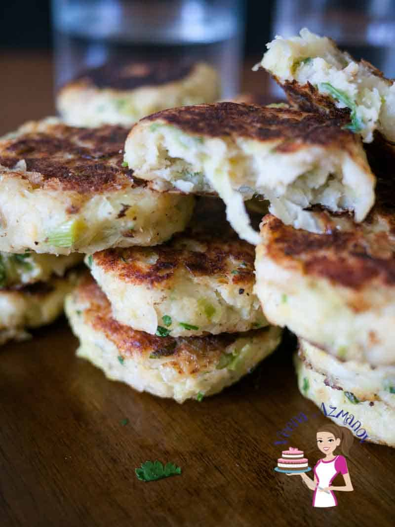 These Leek and potato patties are an ideal side dish to accompany many meat dishes. These are very traditionally made during Passover or Easter Celebrations across the Middle East. Delicious moist and tender cooked till golden brown.