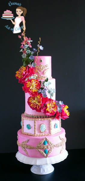 Peony Sugar Flower Cake Craft Magazine Cake (3)