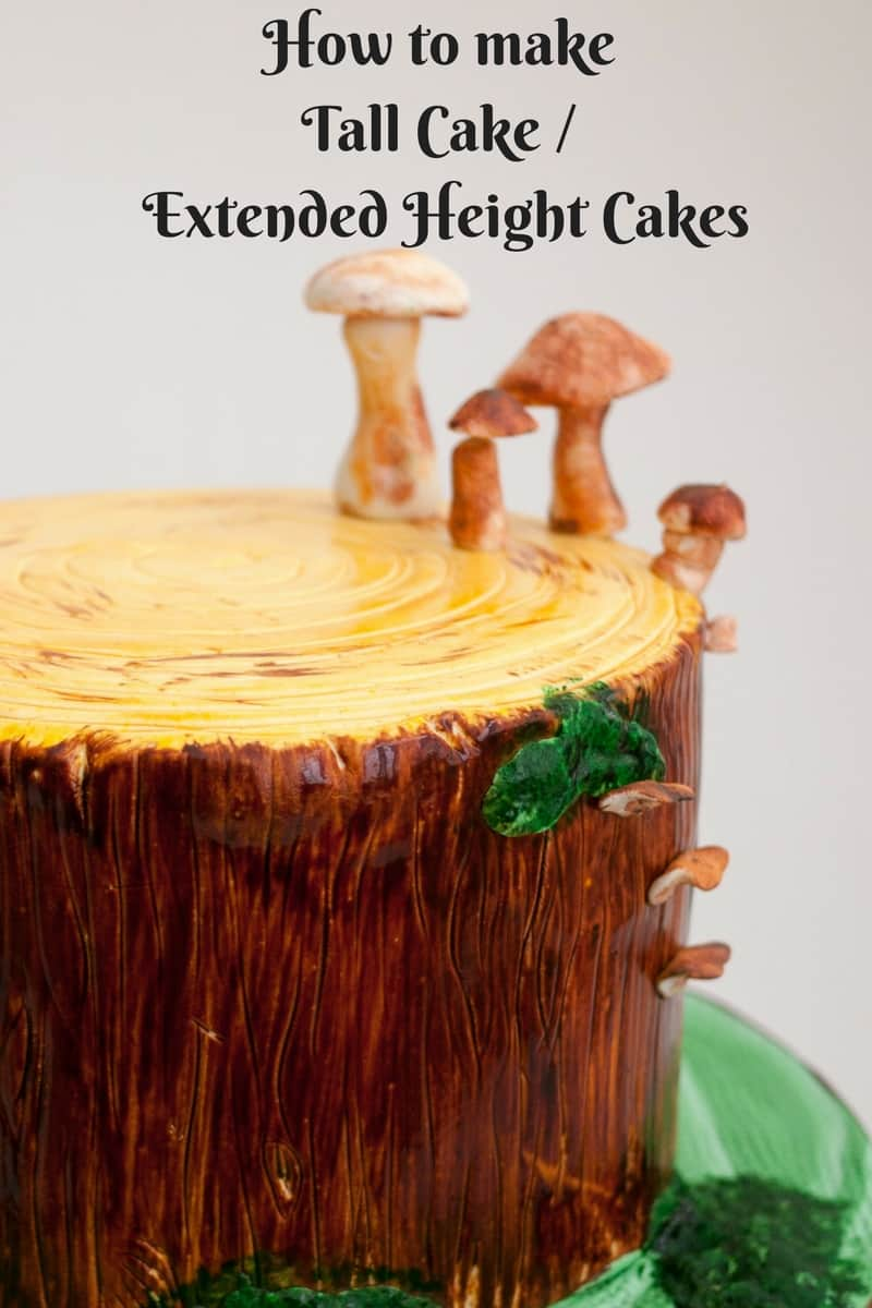 How to make Tall Cakes or Extended Height Cakes