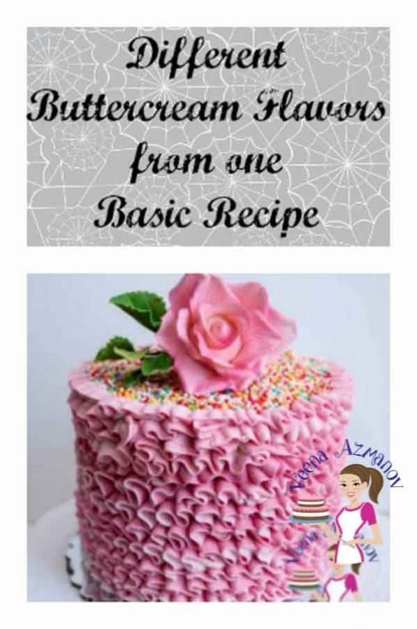 Creating new delicious buttercream flavors can be fun & easy if you have to make it from one basic recipe.This is how I create different buttercream flavors