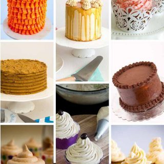 A collage of buttercream flavors.