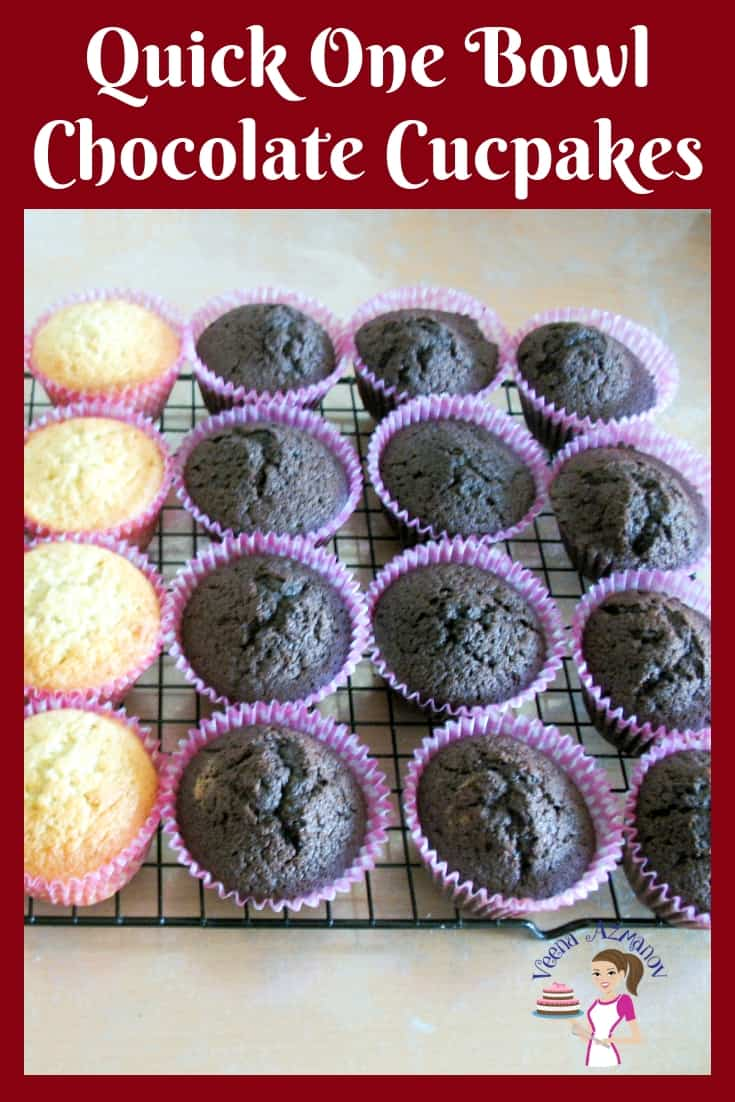 These one bowl chocolate cupcakes are moist, simple and easy to deliver.