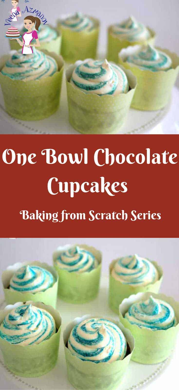 Quick and Easy One Bowl Chocolate Cupcakes are soft moist and delicious. They are a great treat for a simple evening snack, kids play date treat or decorated beautifully for party celebration. These also make a great project for kids activities.
