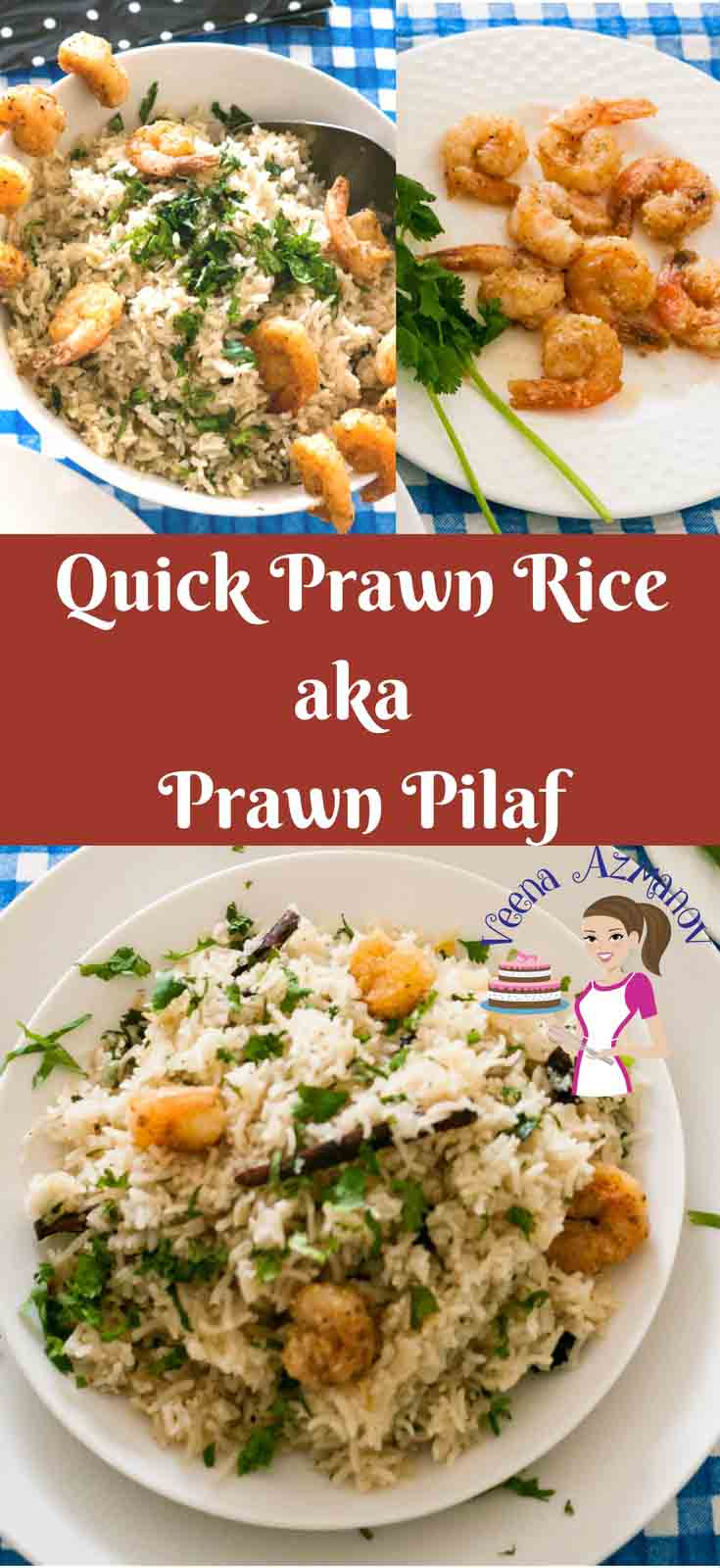 One of my time saving and fun meal is this quick prawn rice, it's the quickest meal you can make for your family in 20 minutes.  A delicious Indian Prawn Pilau recipe is a perfect one pot meal and a blessing to busy and working moms like me.