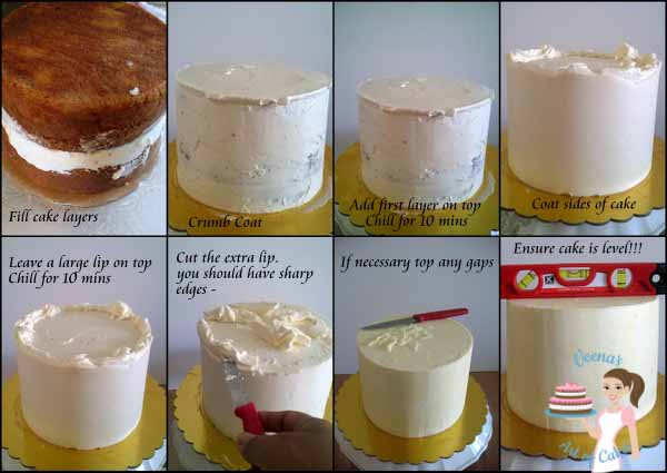 Learn how to get sharp edges on buttercream cakes simple and easy