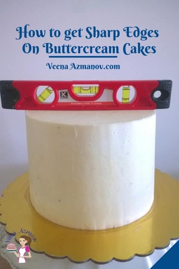 Pinterest image buttercream cakes sharp edges