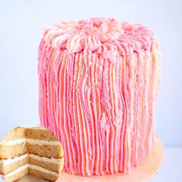 Frosted Cake with Bergamot extract.