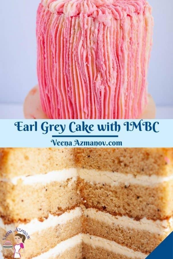 Pinterest image for Earl Grey Cake.